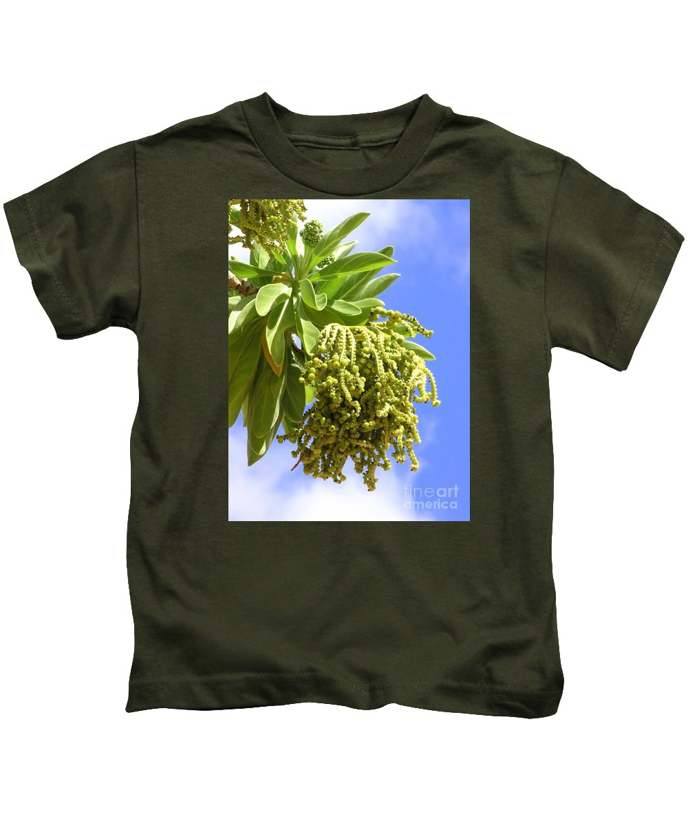 Beach Kids T-Shirt featuring the photograph Beach Tree Seed Pods by Mary Deal
