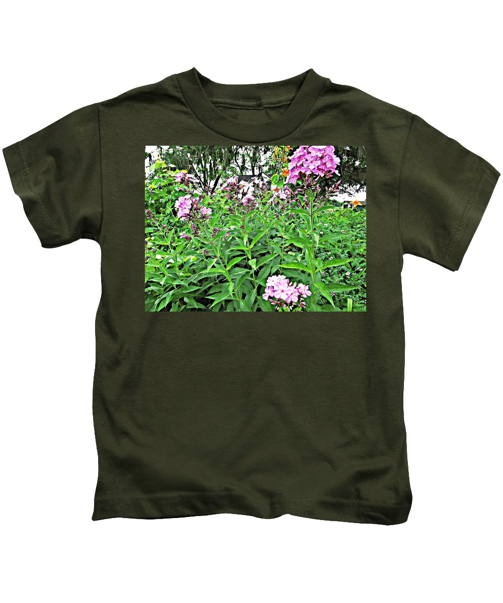 Phlox Kids T-Shirt featuring the painting Beautiful Moments by Robert Nacke