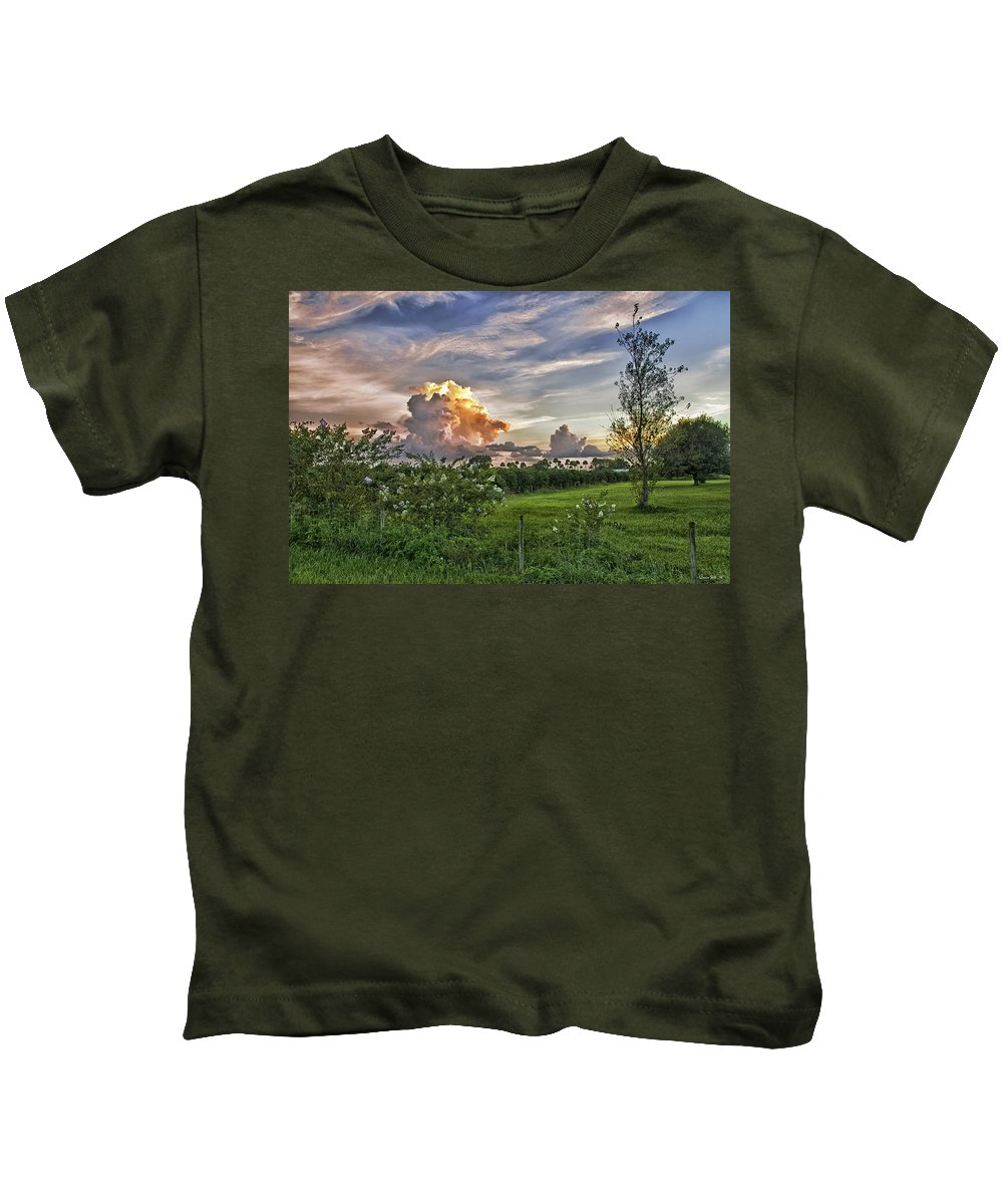 Sunset Kids T-Shirt featuring the photograph Beautiful View by Louise Hill
