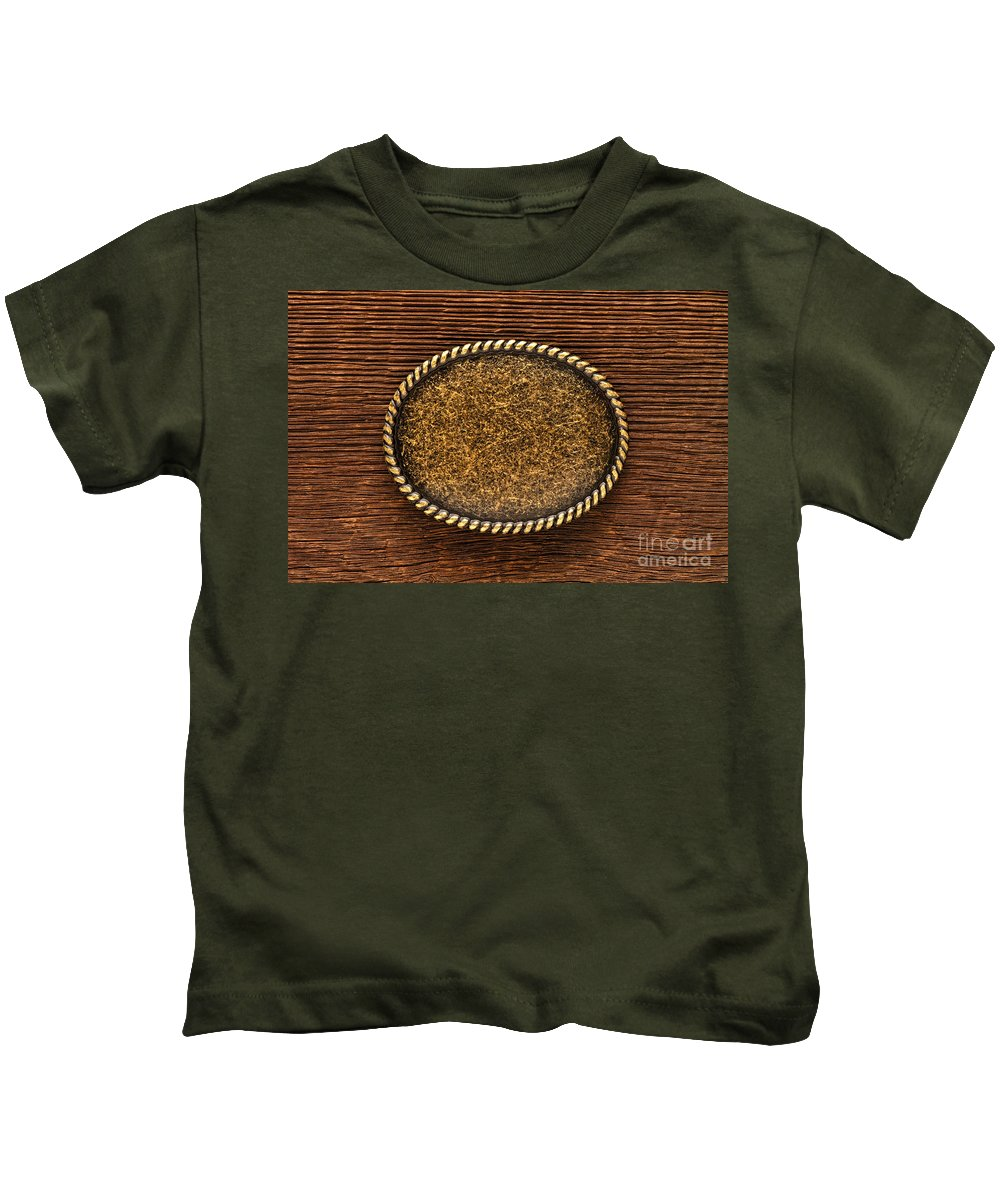 Country Kids T-Shirt featuring the photograph Belt Buckle by Olivier Le Queinec