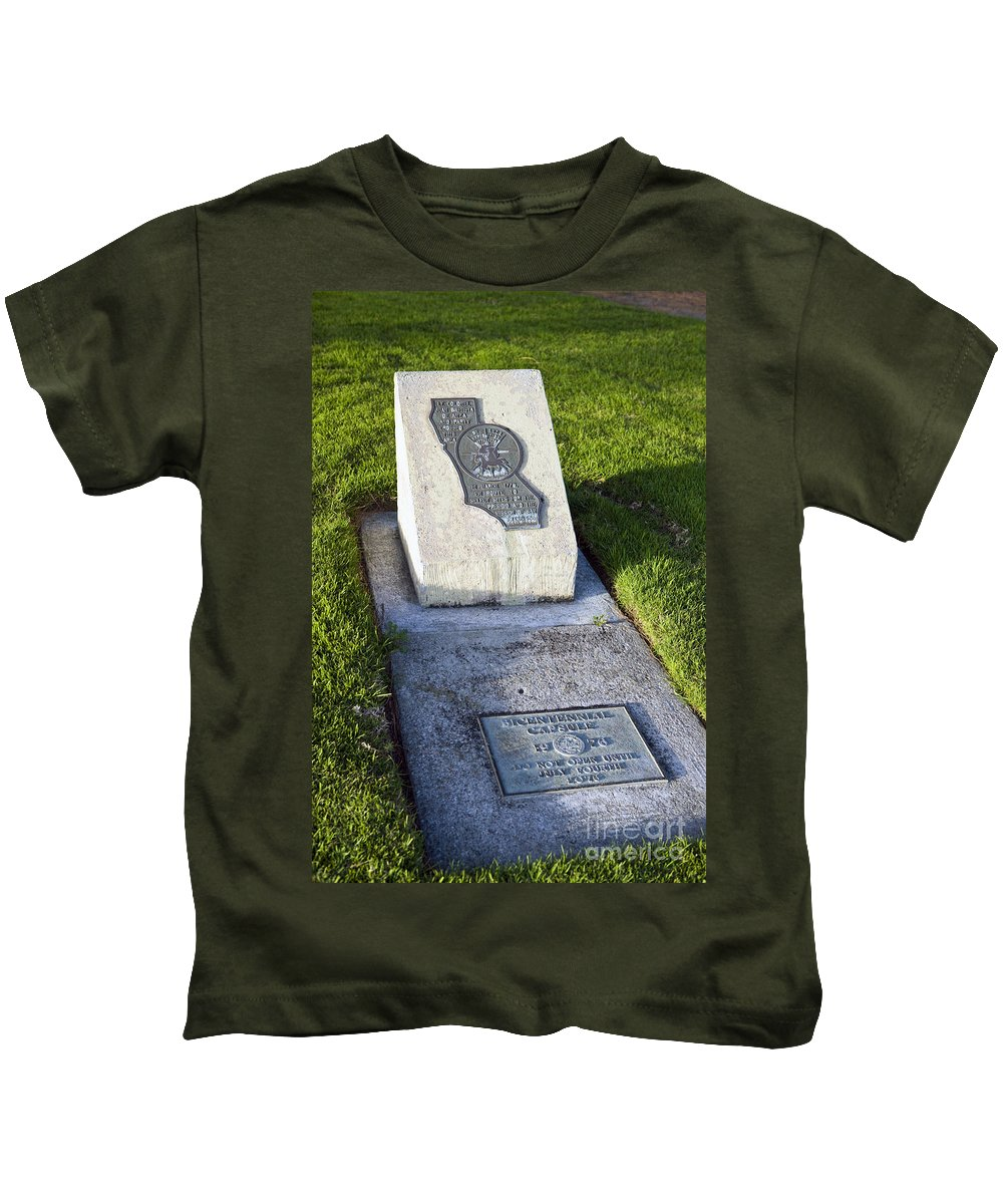 Travel Kids T-Shirt featuring the photograph Bicentennial Time Capsule Santa Clara California by Jason O Watson