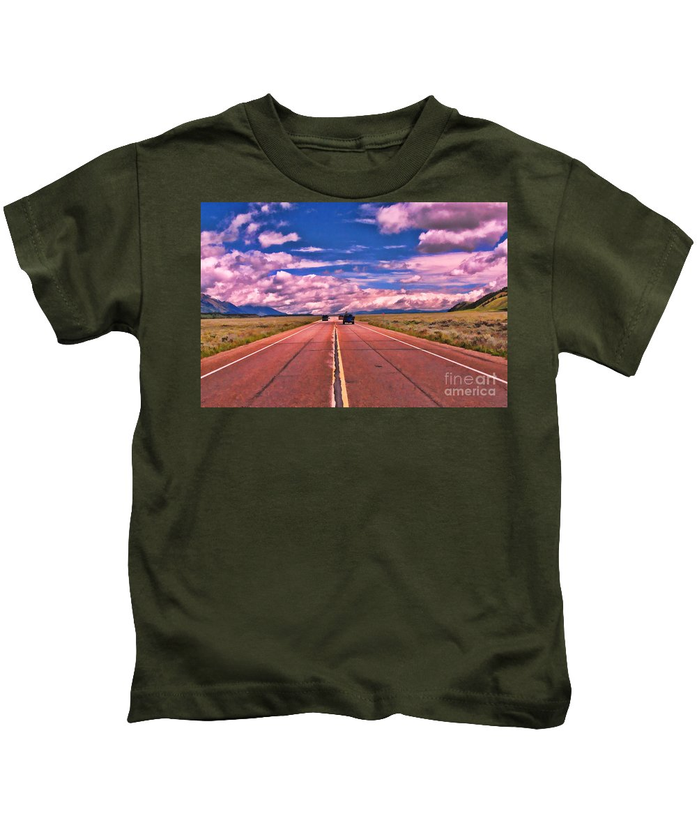 Big Sky Country Kids T-Shirt featuring the photograph Big Sky Country by Allen Beatty