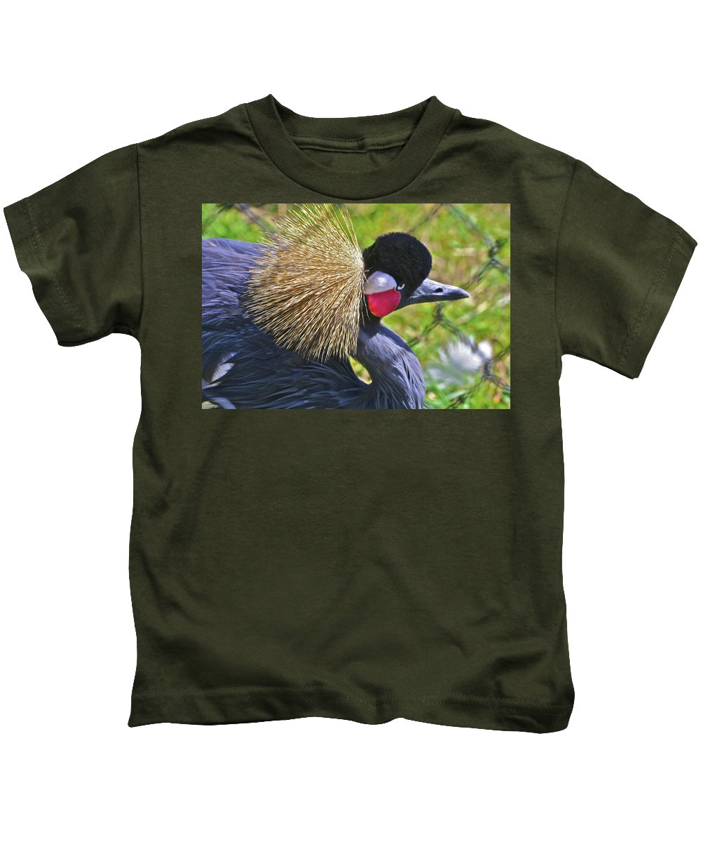 Animals Kids T-Shirt featuring the photograph Bird Exotica by SC Heffner