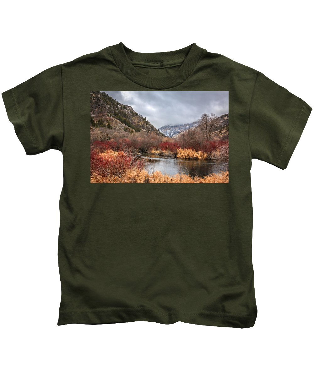 Gigimarie Kids T-Shirt featuring the photograph Blacksmith Fork Canyon by Gina Herbert
