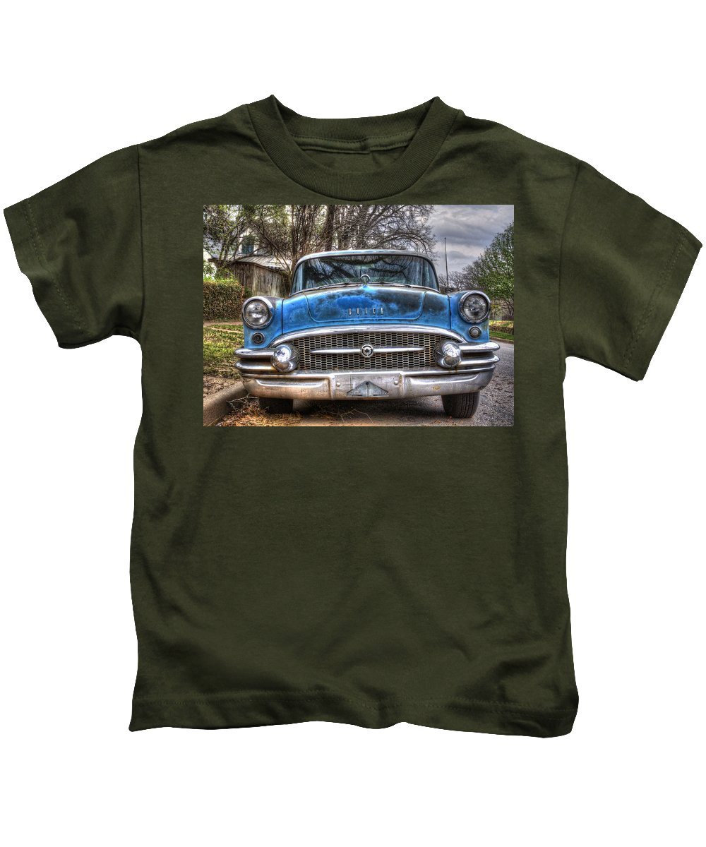 Buick Kids T-Shirt featuring the photograph Blinker-less by Danny Pickens