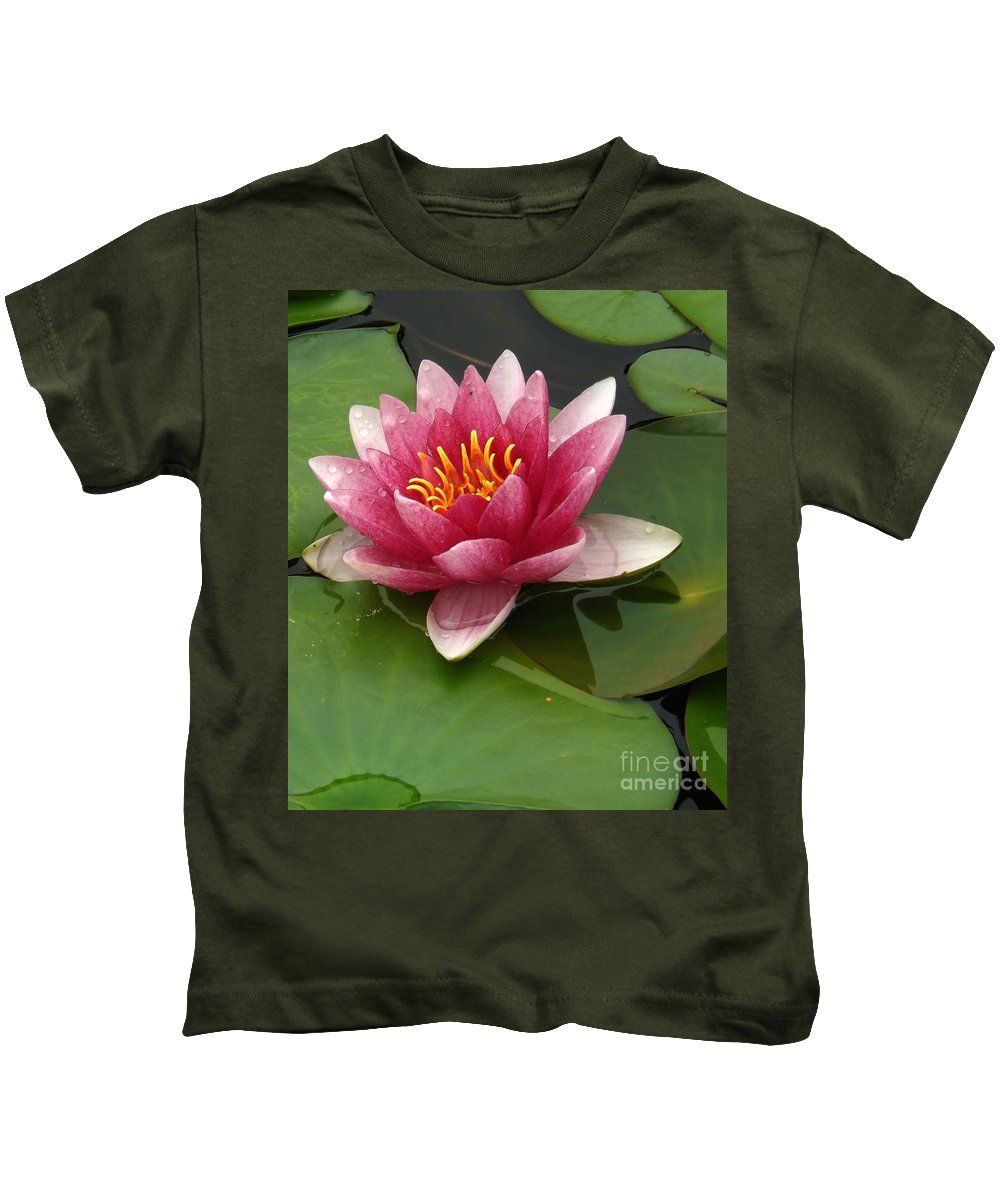 Bloom Kids T-Shirt featuring the photograph Blossoming Waterlily by Sara Raber