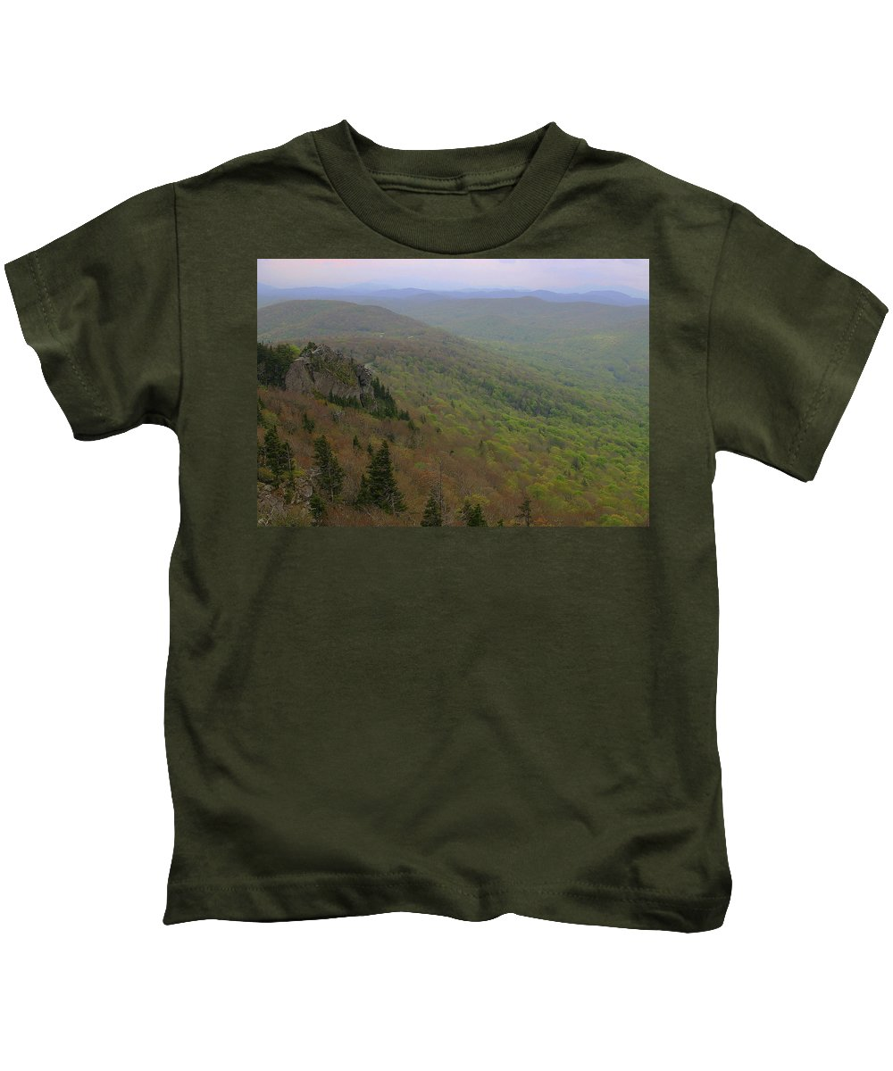 Landscape Kids T-Shirt featuring the photograph Blue Ridge View 3 by Karol Livote