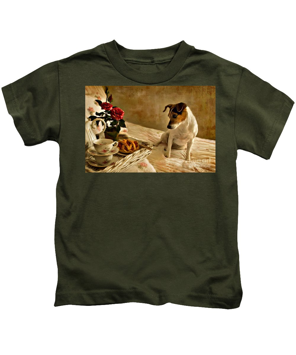 Kids T-Shirt featuring the photograph Bon Appetit by Jean Hildebrant