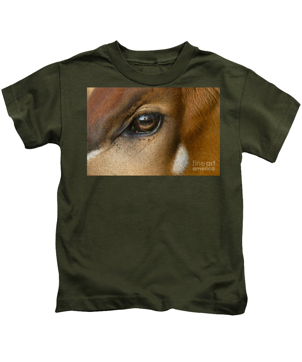 One Animal Kids T-Shirt featuring the photograph Bongo Skin Pattern by Frans Lanting MINT Images