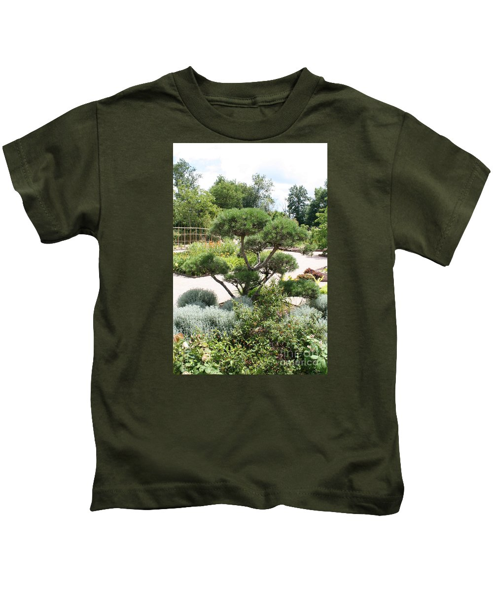 Bonsai Kids T-Shirt featuring the photograph Bonsai In The Park by Christiane Schulze Art And Photography