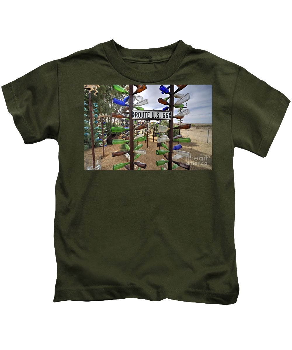 Bottle Kids T-Shirt featuring the photograph Bottle Ranch by Rob Hawkins