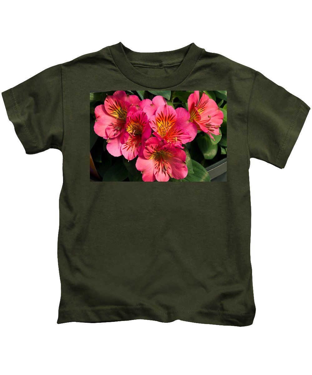 Agriculture Kids T-Shirt featuring the photograph Bouquet Of Pink Lily Flowers by John Trax