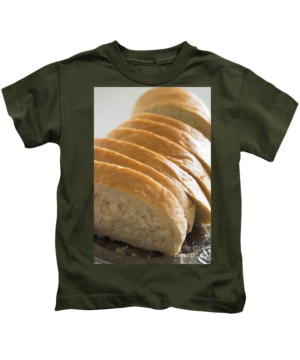 Food Kids T-Shirt featuring the photograph Bread by Michal Bednarek