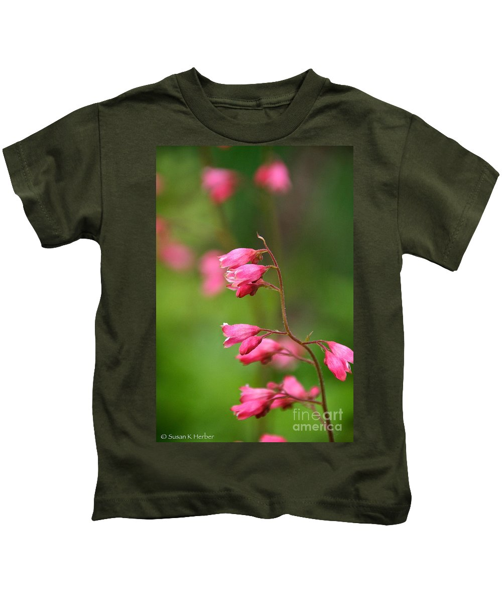 Flower Kids T-Shirt featuring the photograph Breezy Coral Bells by Susan Herber