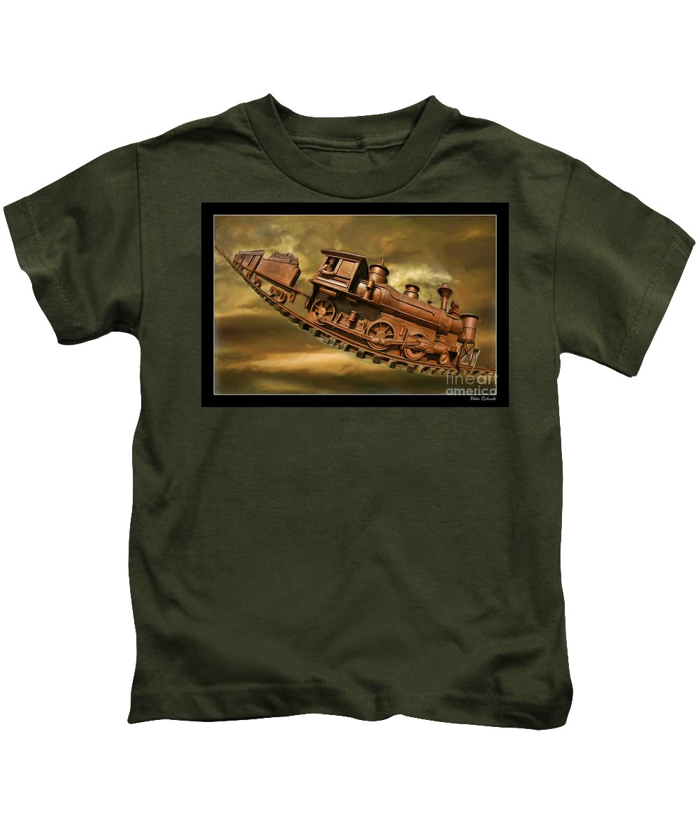 Bringhurst Special Kids T-Shirt featuring the photograph Bringhurst Special Train by Blake Richards