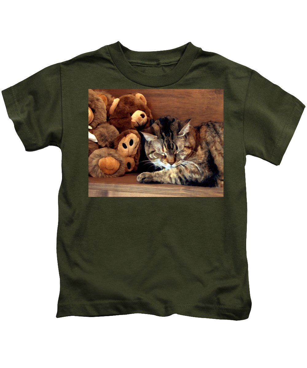 Tabby Kids T-Shirt featuring the photograph Brownie by Jeanne A Martin