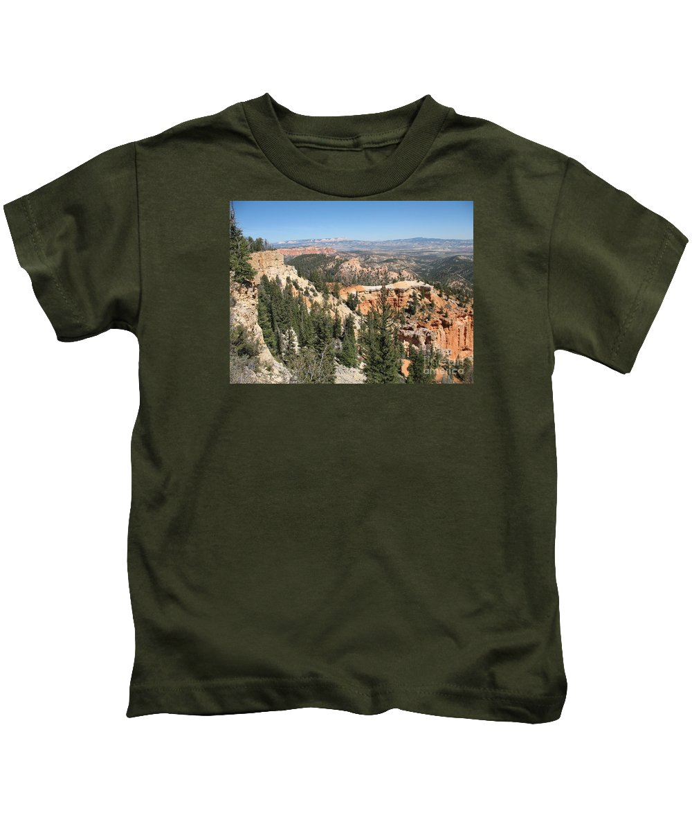 Rocks Kids T-Shirt featuring the photograph Bryce Canyon Overlook by Christiane Schulze Art And Photography