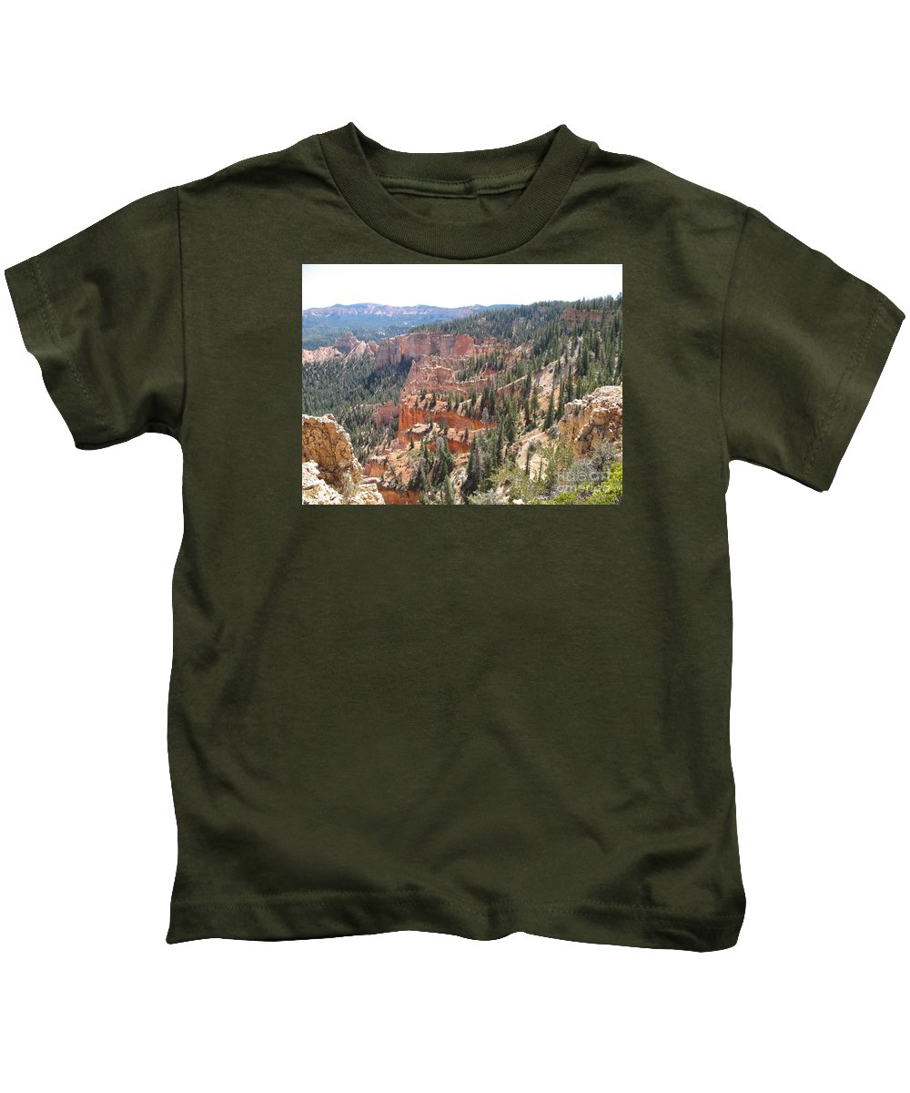 Rocks Kids T-Shirt featuring the photograph Bryce Canyon View by Christiane Schulze Art And Photography