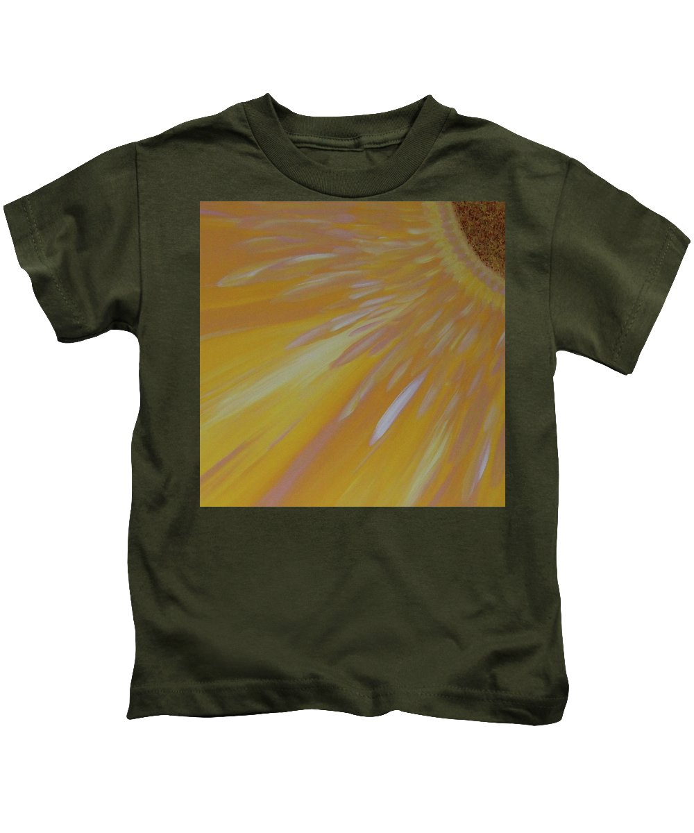 Abstract Kids T-Shirt featuring the painting Burst by Soraya Silvestri