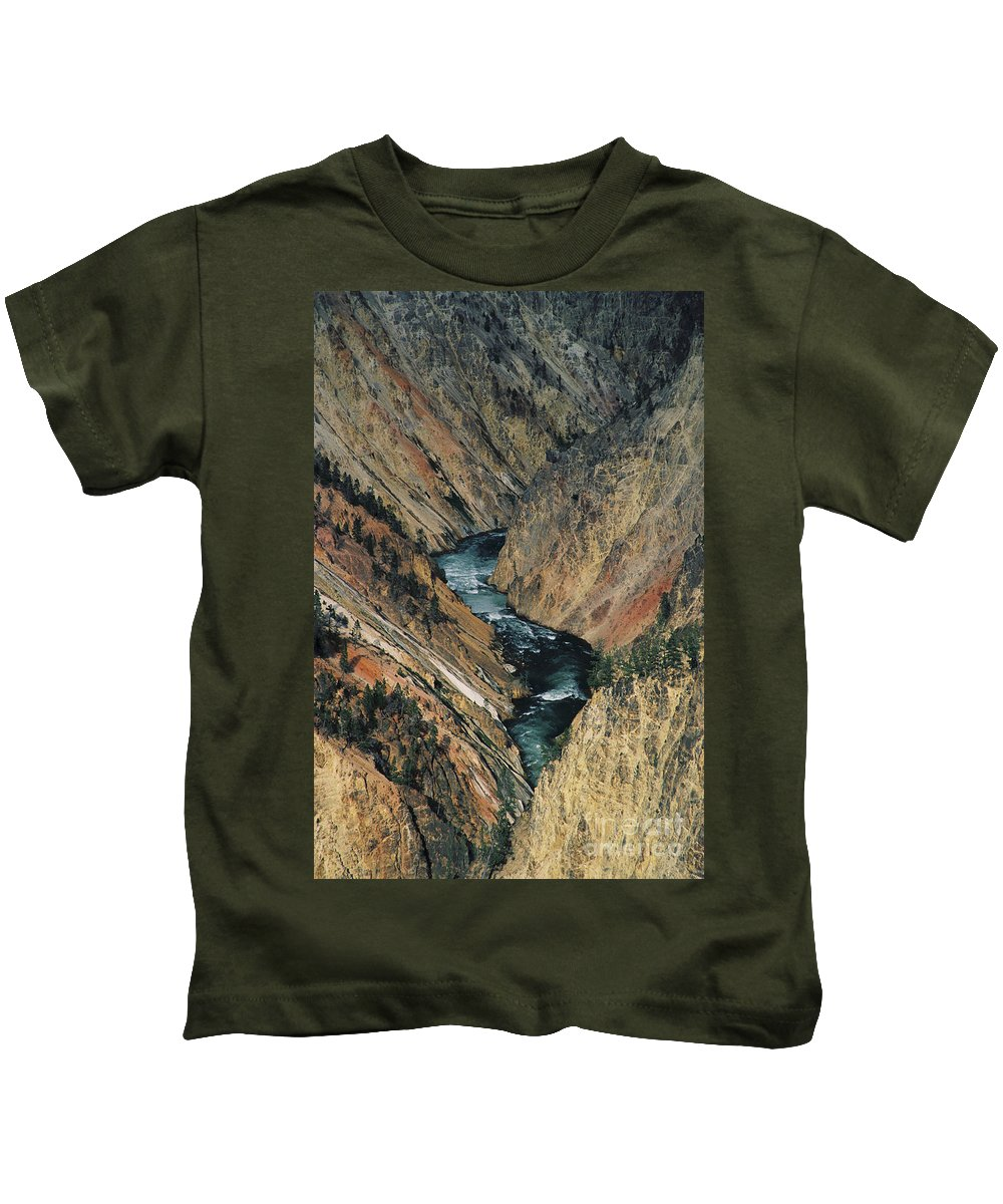 Yellowstone Kids T-Shirt featuring the photograph Canyon Jewel by Kathy McClure