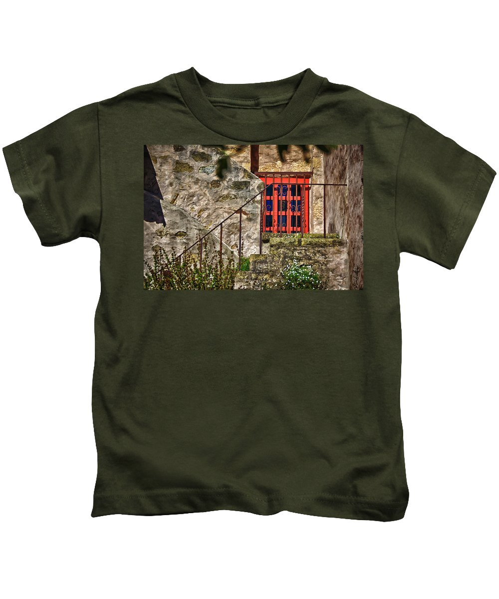 Carmel Mission California Kids T-Shirt featuring the photograph Carmel Mission 10 by Ron White