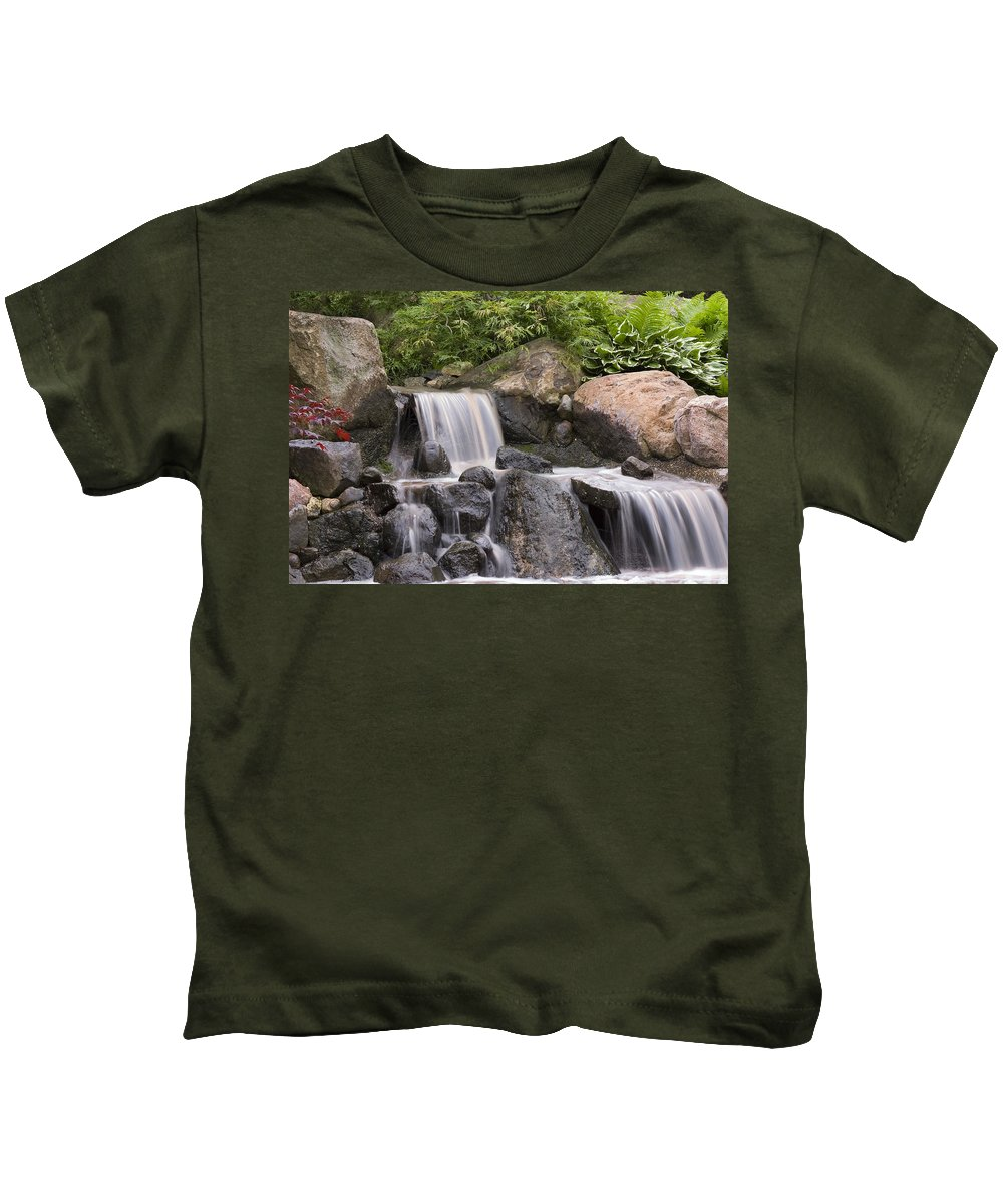 3scape Kids T-Shirt featuring the photograph Cascade Waterfall by Adam Romanowicz
