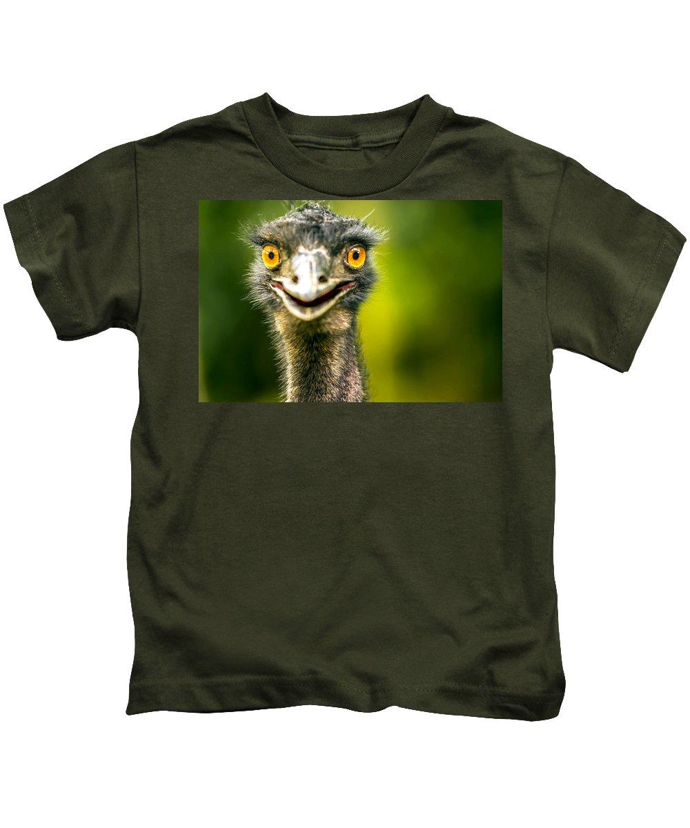 Australia Kids T-Shirt featuring the photograph Emu by Jijo George