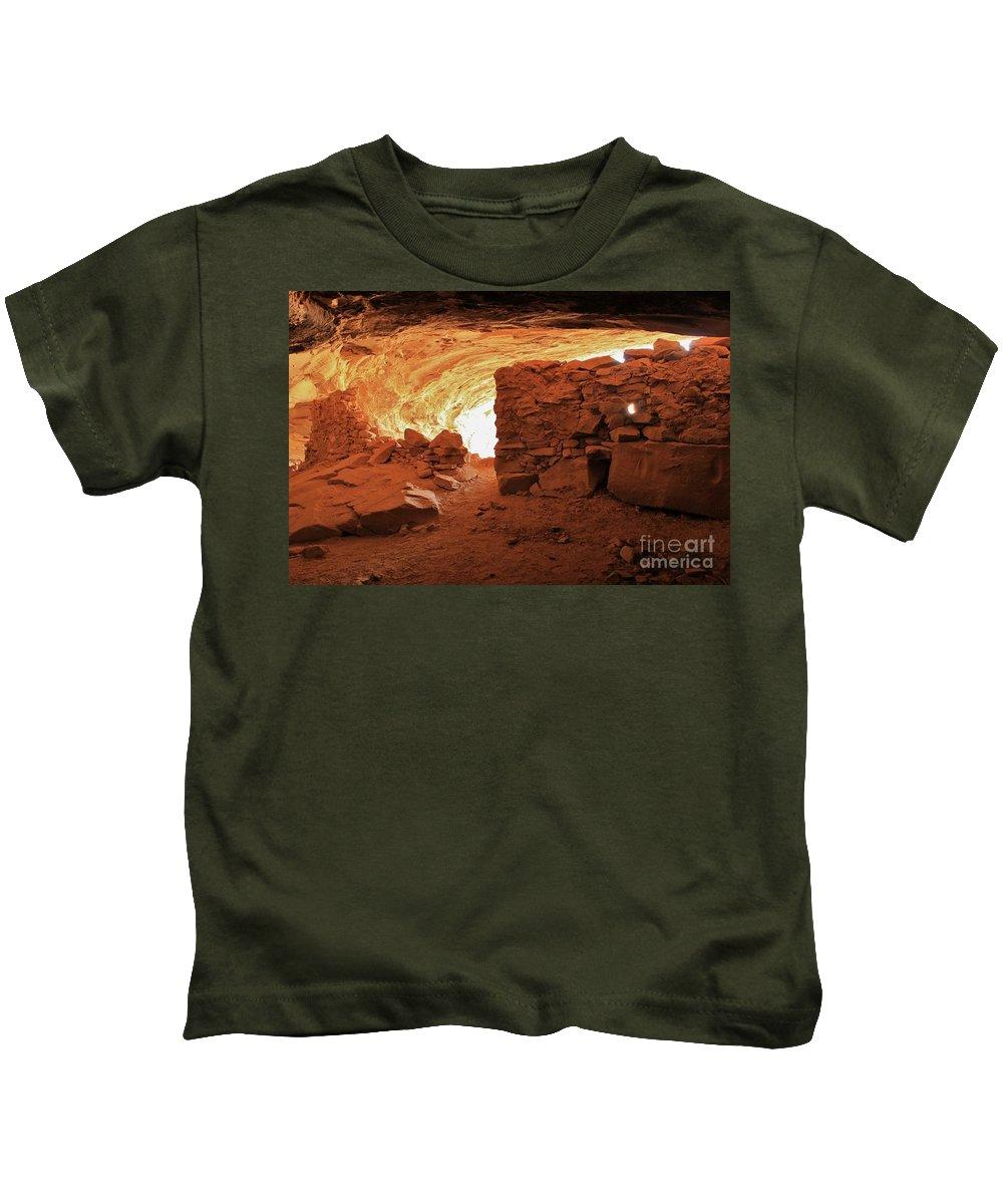 Handprint Kids T-Shirt featuring the photograph Cave Ruin 2 by Tonya Hance