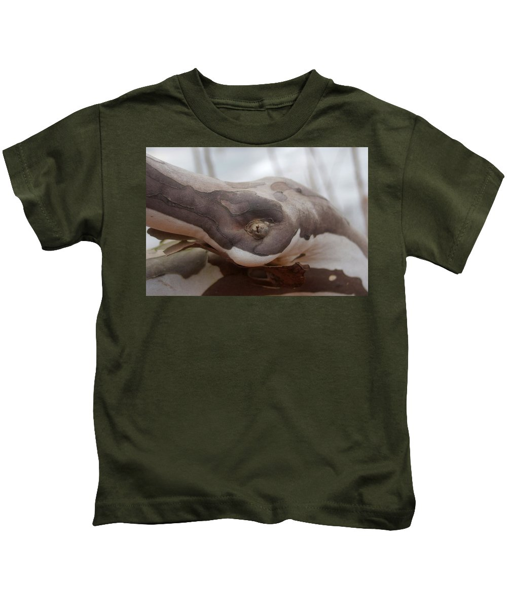 Tree Kids T-Shirt featuring the photograph Changing Bark Colors...  # by Rob Luzier