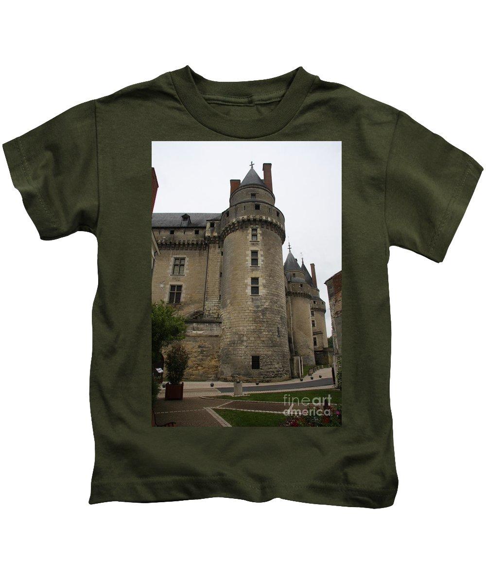 Castle Kids T-Shirt featuring the photograph Chateau De Langeais - France by Christiane Schulze Art And Photography