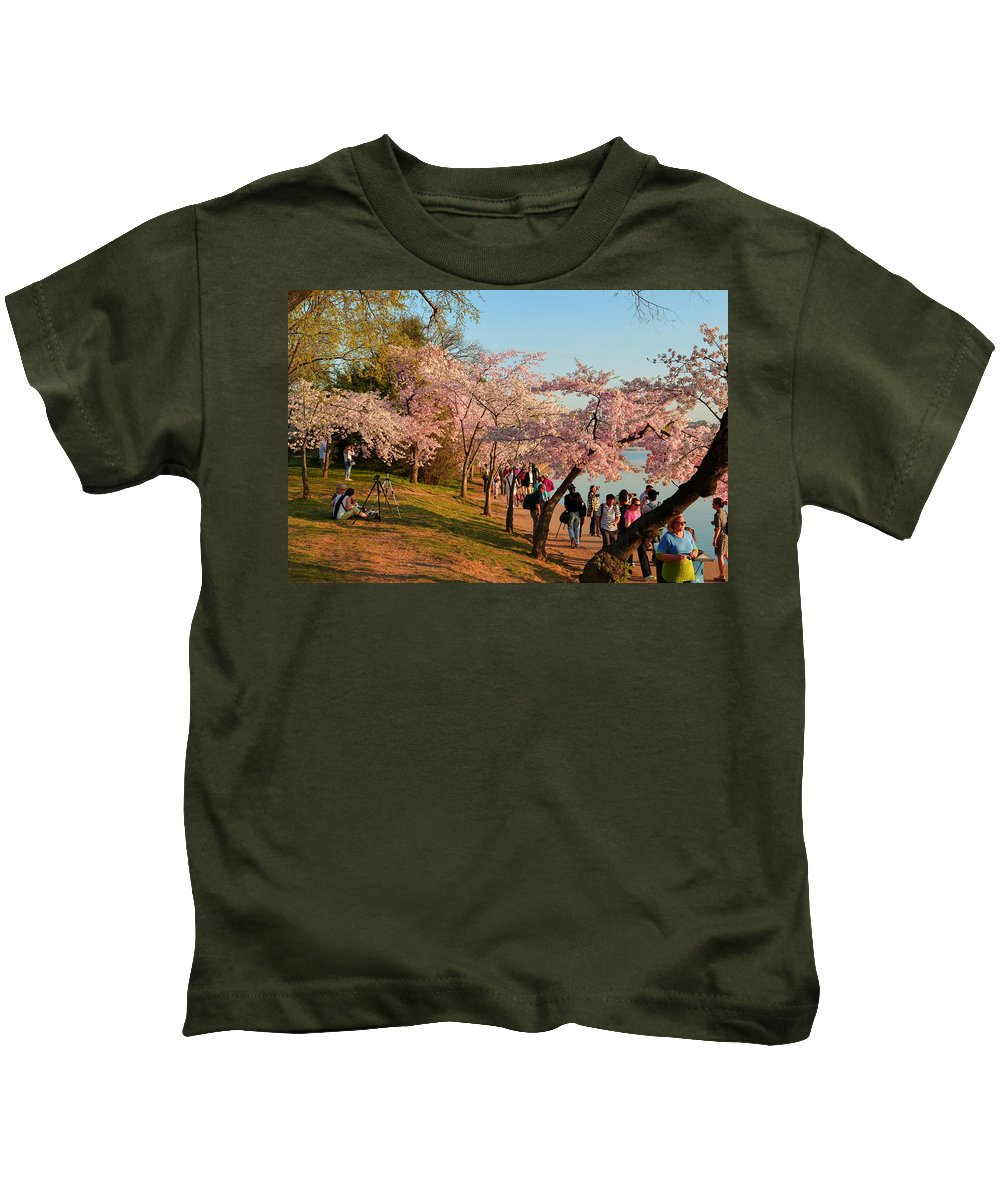Architectural Kids T-Shirt featuring the photograph Cherry Blossoms 2013 - 007 by Metro DC Photography