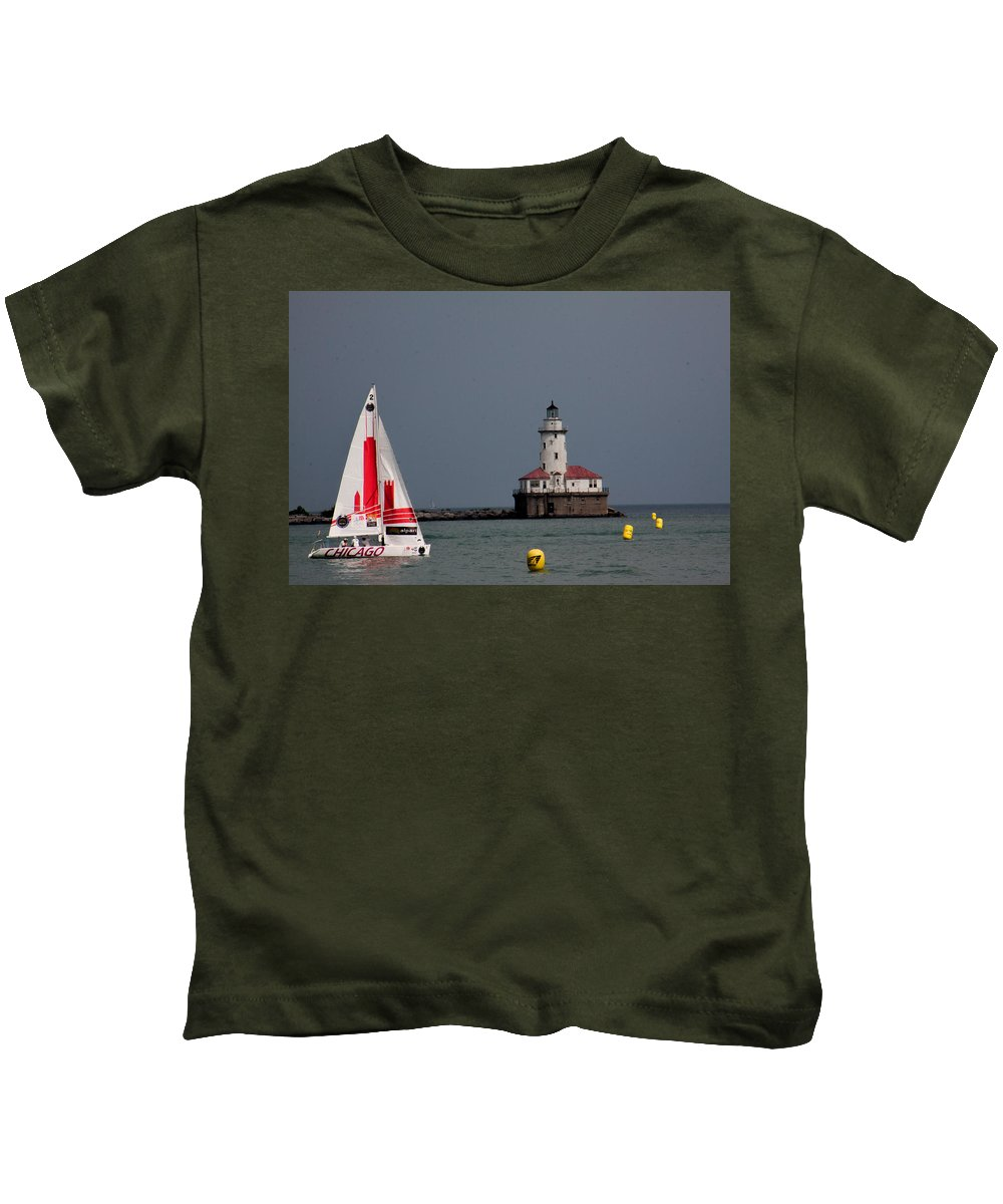 Kids T-Shirt featuring the photograph Chicago Lighthouse by Sue Conwell