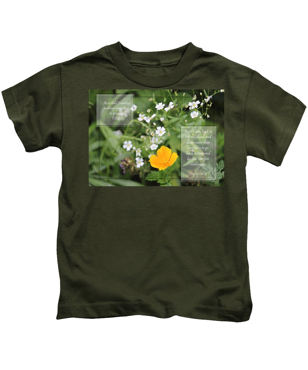 White Kids T-Shirt featuring the photograph Childhood by Karen Beasley