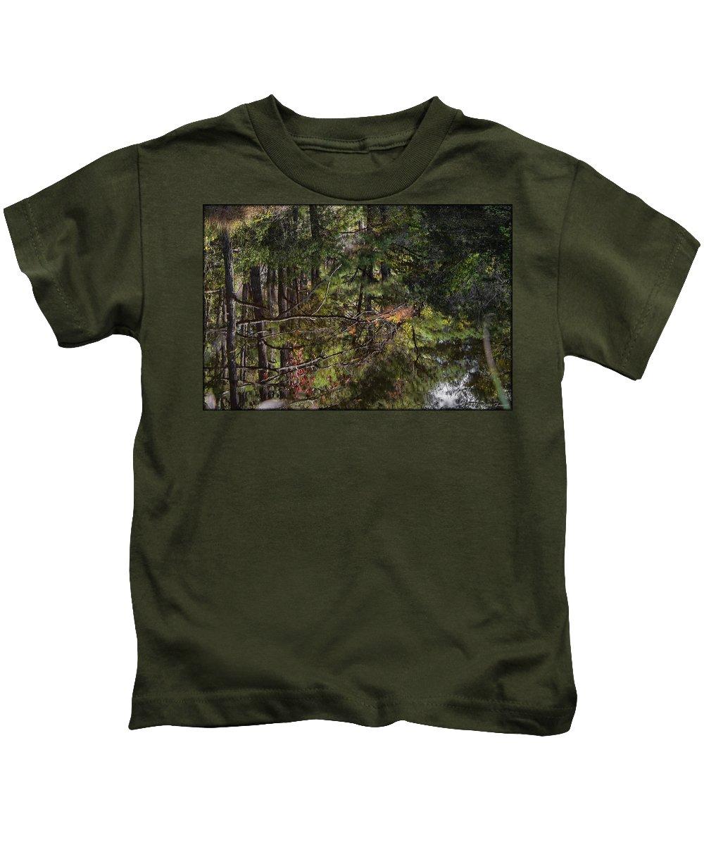 Water Kids T-Shirt featuring the photograph Chincoteague Reflection by Erika Fawcett
