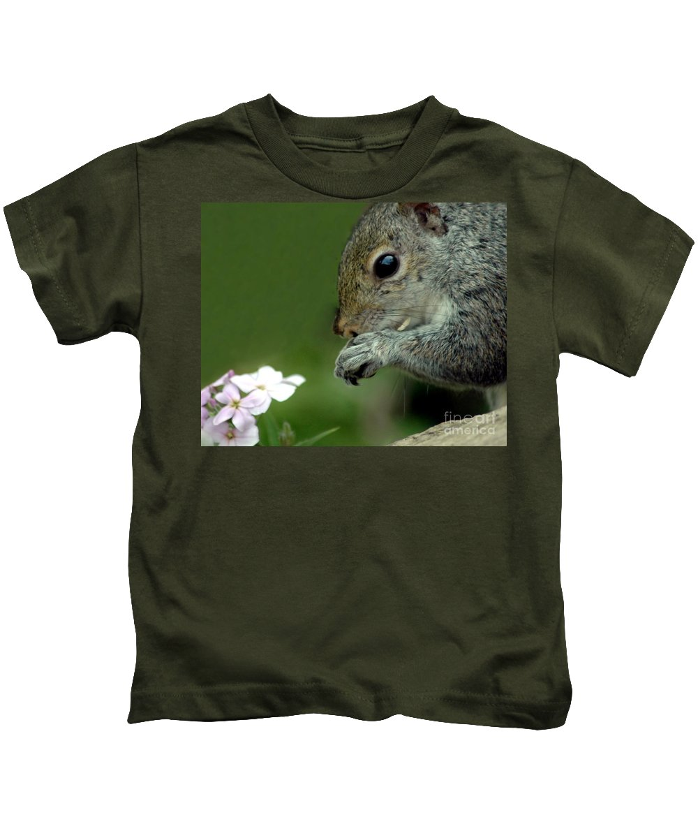 Chipmunk Kids T-Shirt featuring the photograph Chipmunk by Kathleen Struckle