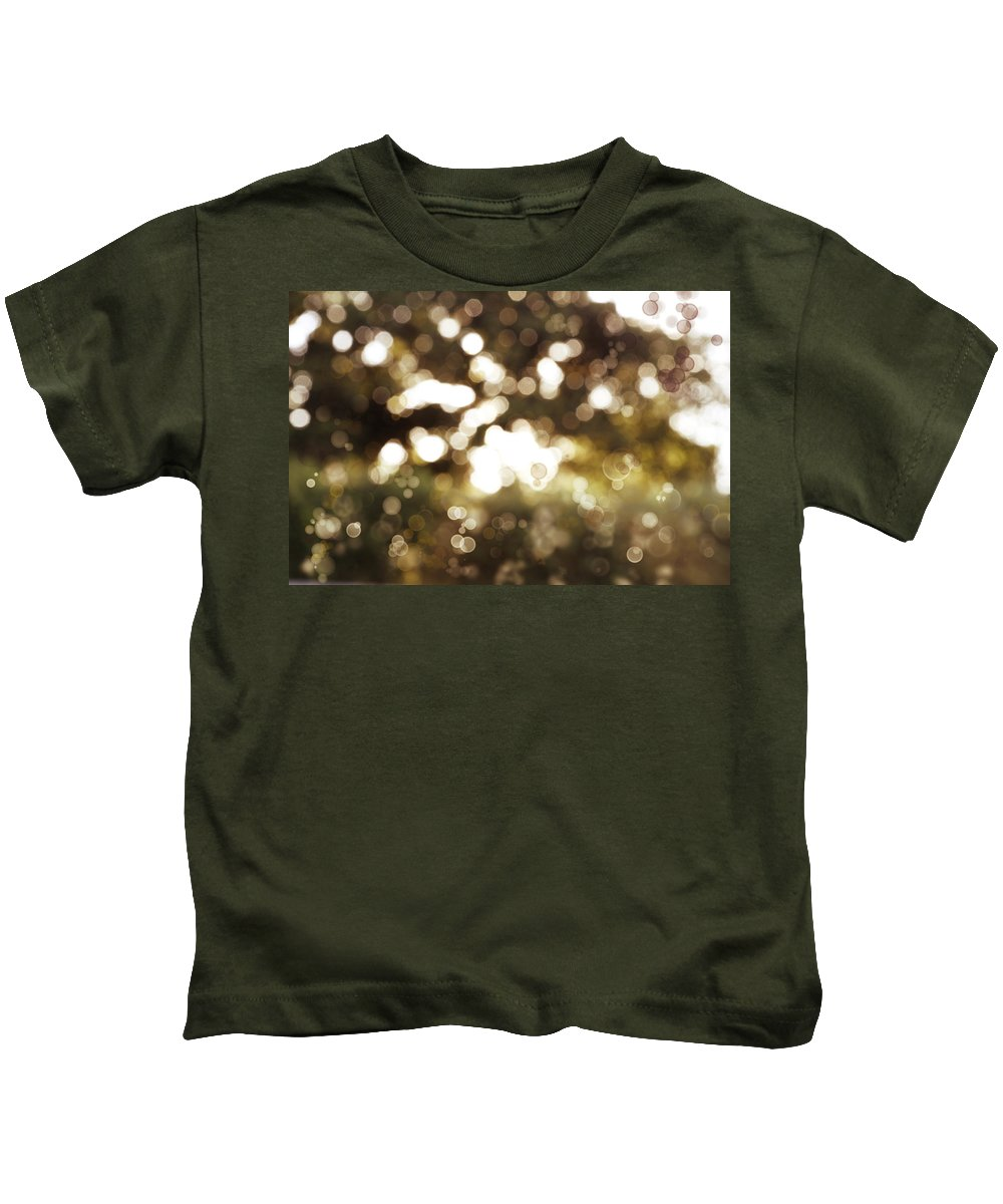 Spring Kids T-Shirt featuring the photograph Circles Background by Les Cunliffe
