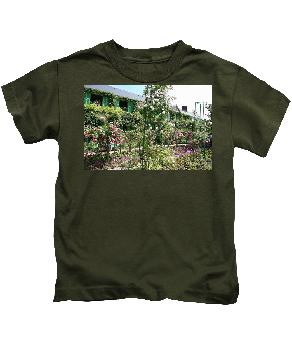 House Kids T-Shirt featuring the photograph Claude Monets House - Giverney by Christiane Schulze Art And Photography