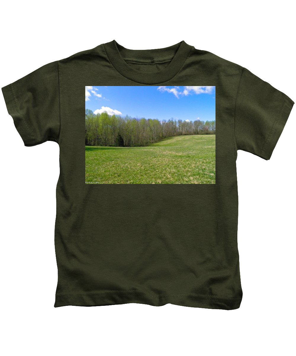 Field Kids T-Shirt featuring the photograph Clean Green by Nick Kirby