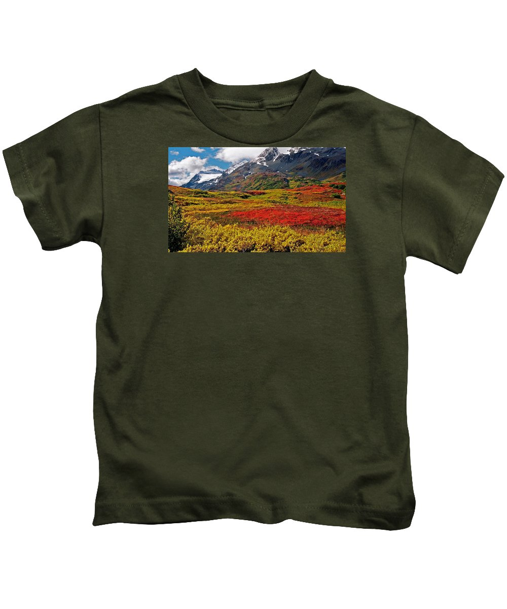Alaska Kids T-Shirt featuring the photograph Colorful Land - Alaska by Juergen Weiss