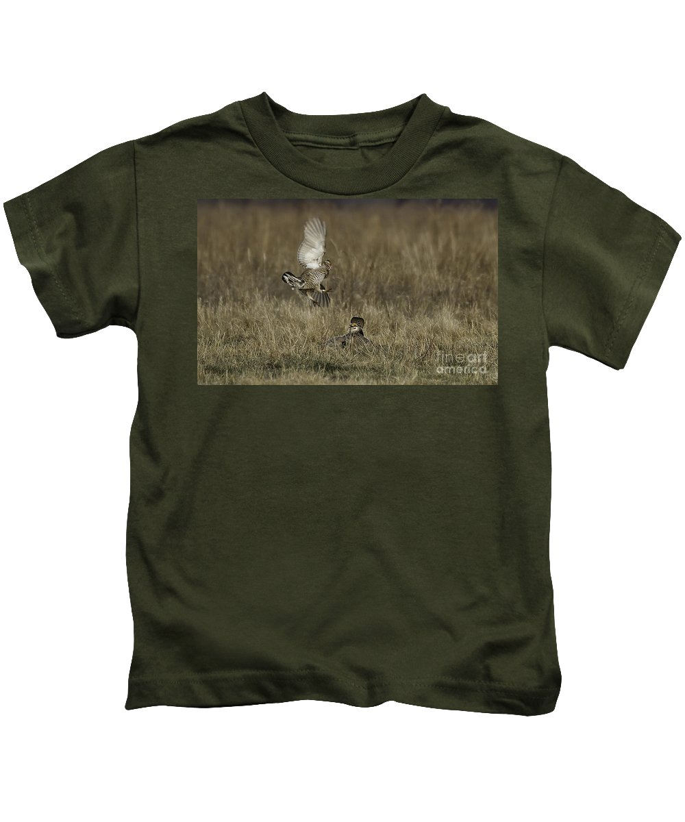 Airie Chicken Kids T-Shirt featuring the photograph Coming In by Jan Killian
