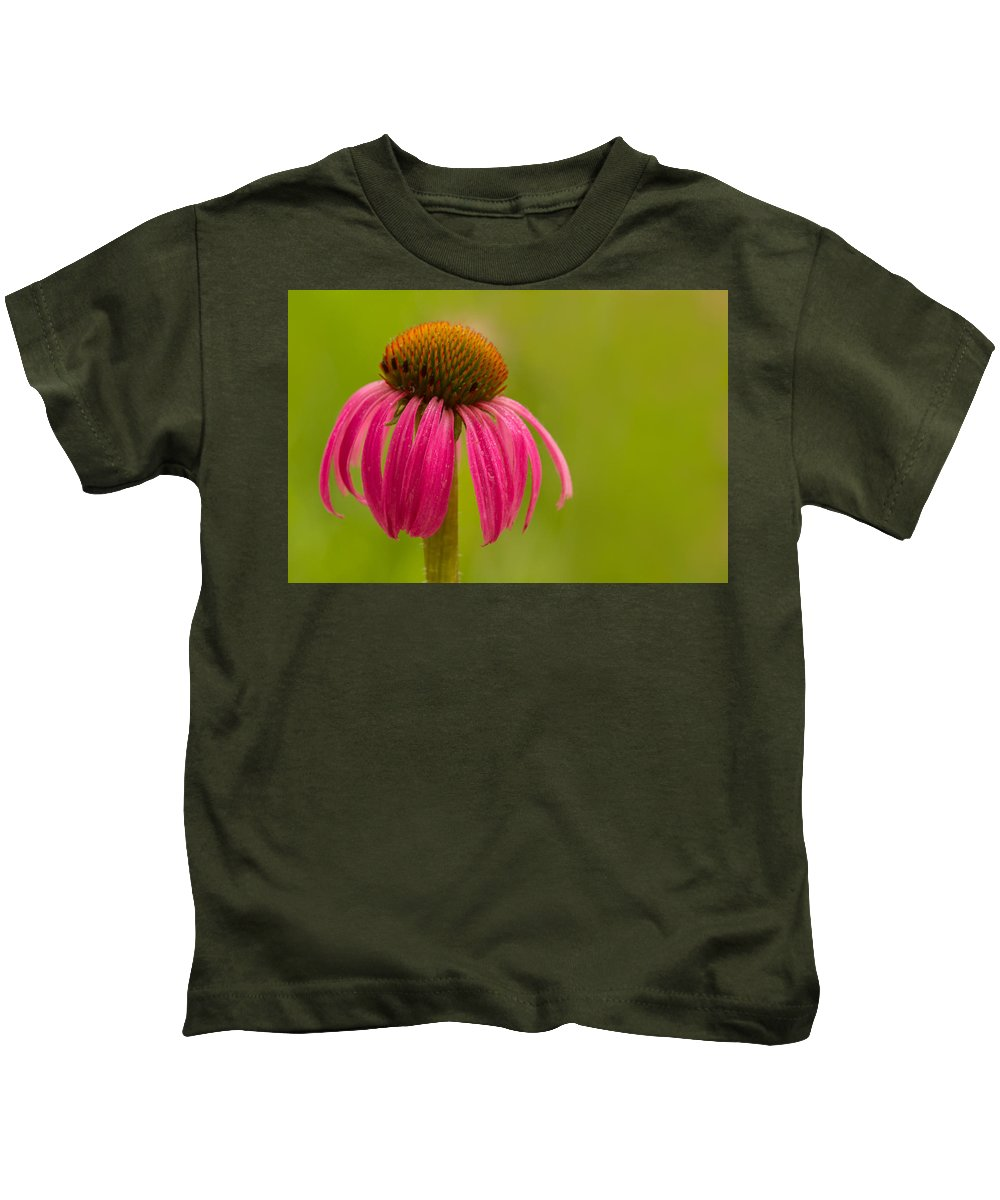 Coneflower Kids T-Shirt featuring the photograph Coneflower - Summer Color by Lindley Johnson