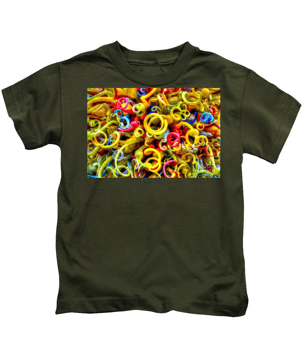Yellow Kids T-Shirt featuring the photograph Confetti by Debbi Granruth
