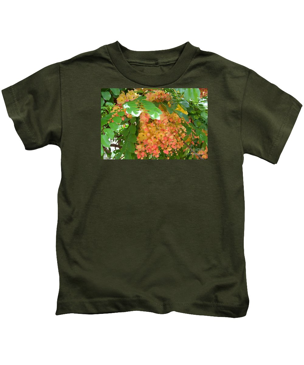Shower Tree Kids T-Shirt featuring the photograph Coral Shower Tree by Mary Deal