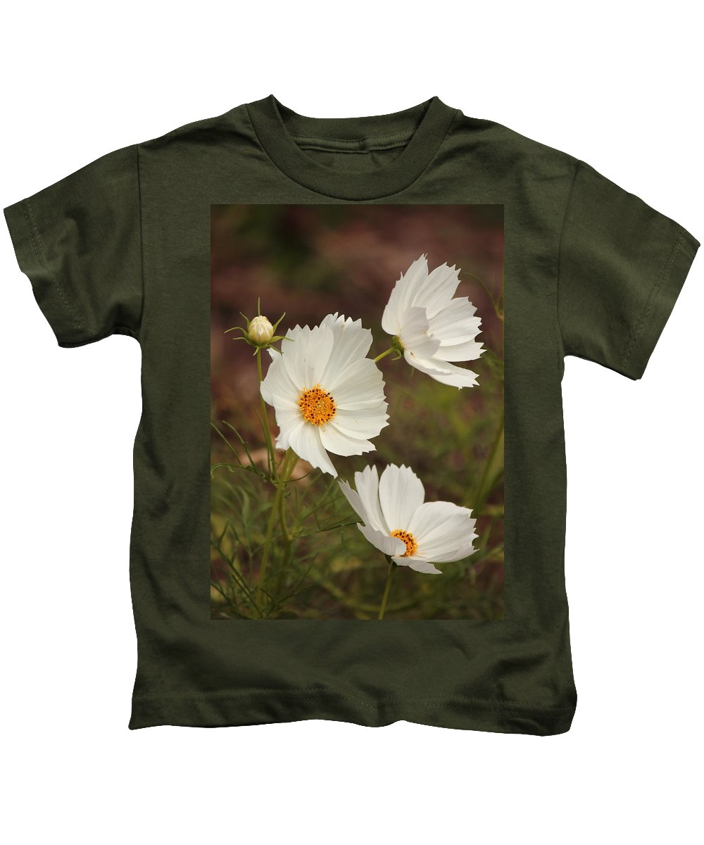 Cosmos Kids T-Shirt featuring the photograph Cosmos by Karen Beasley