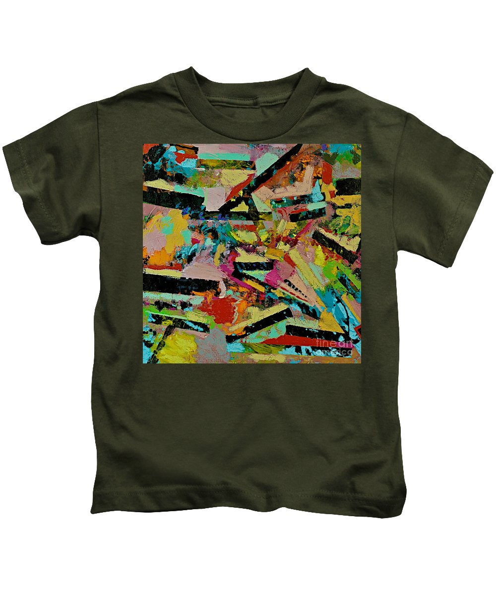 Landscape Kids T-Shirt featuring the painting Cotton Crystal by Allan P Friedlander