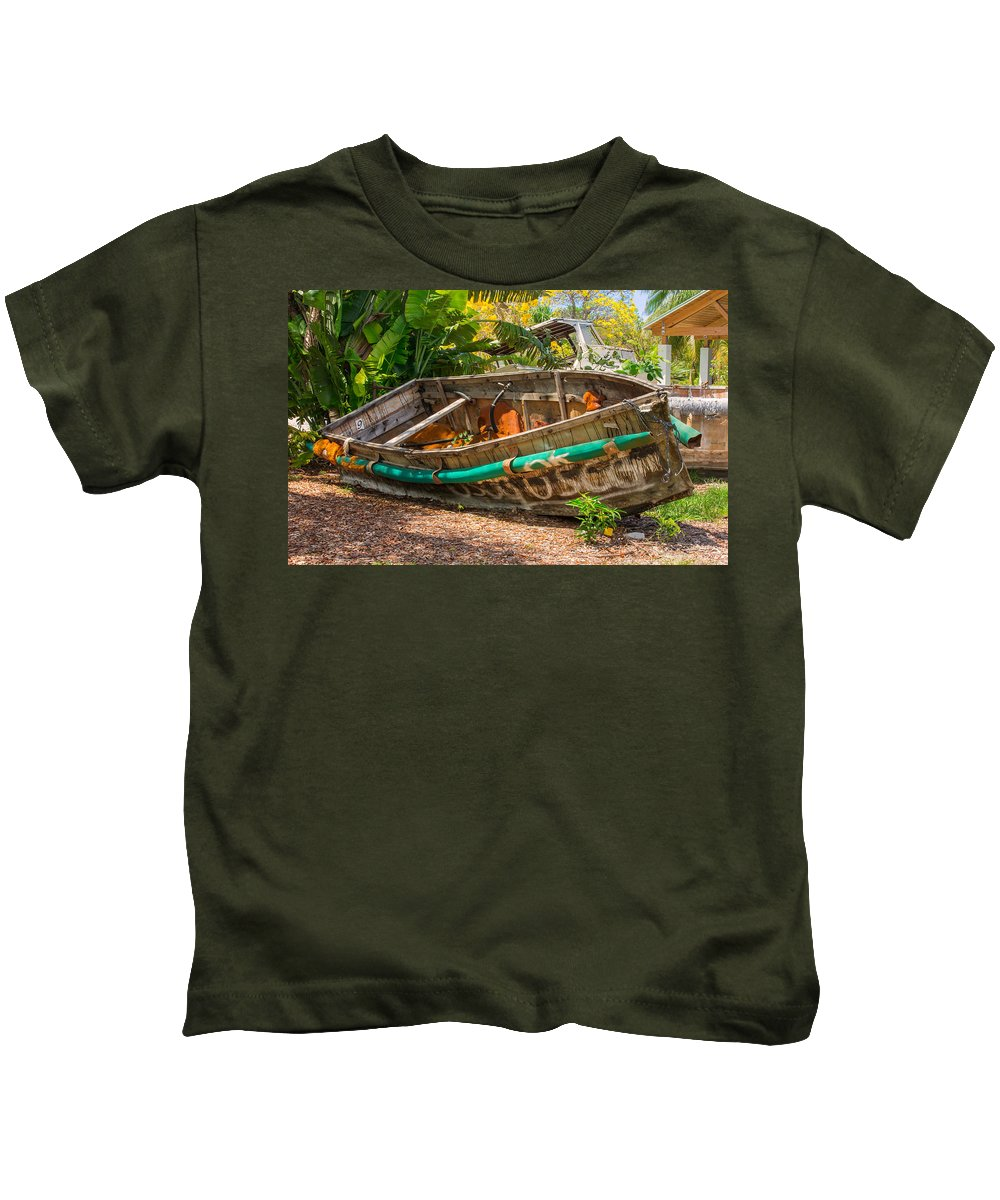 Boat Kids T-Shirt featuring the photograph Cuban Chugs by John M Bailey