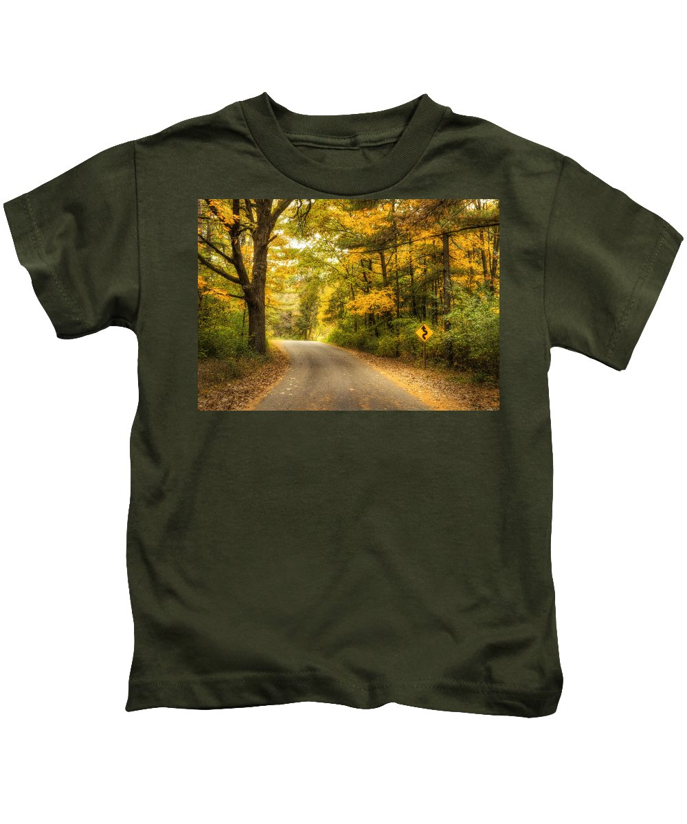 Autumn Kids T-Shirt featuring the photograph Curves Ahead by Scott Norris