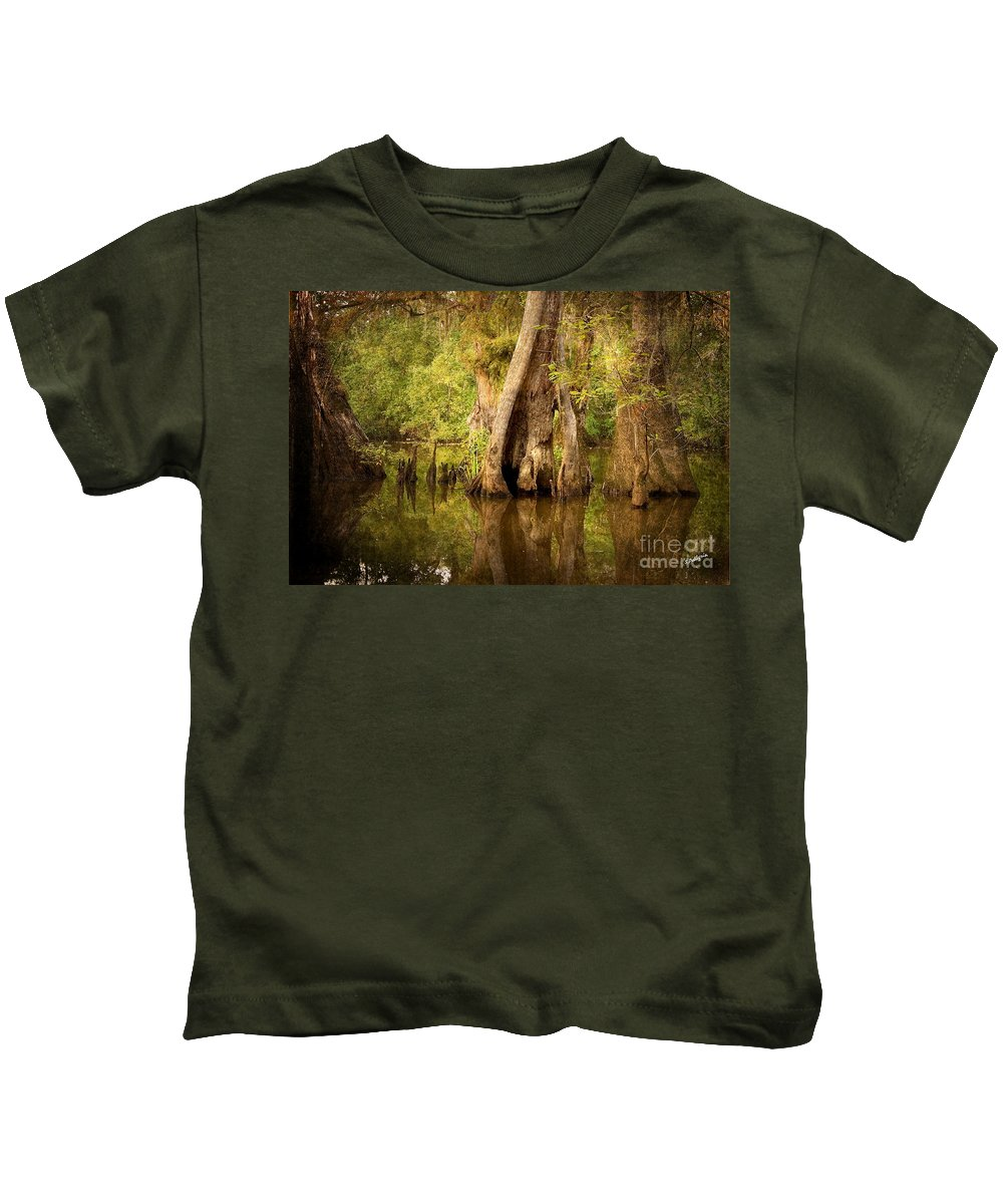 Water Kids T-Shirt featuring the photograph Cypress by Scott Pellegrin