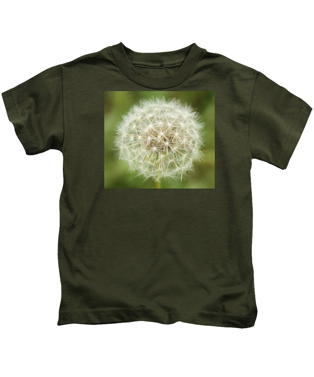 Dandelion Kids T-Shirt featuring the photograph Make A Wish by Dan Sproul