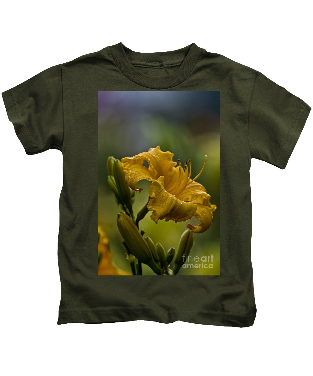Daylily Kids T-Shirt featuring the photograph Daylily Picture 558 by World Wildlife Photography
